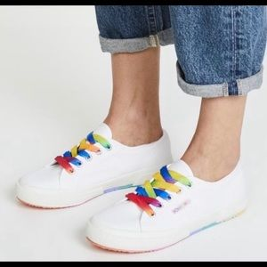 Superga Rainbow lace sneaker NWT sz 8.5